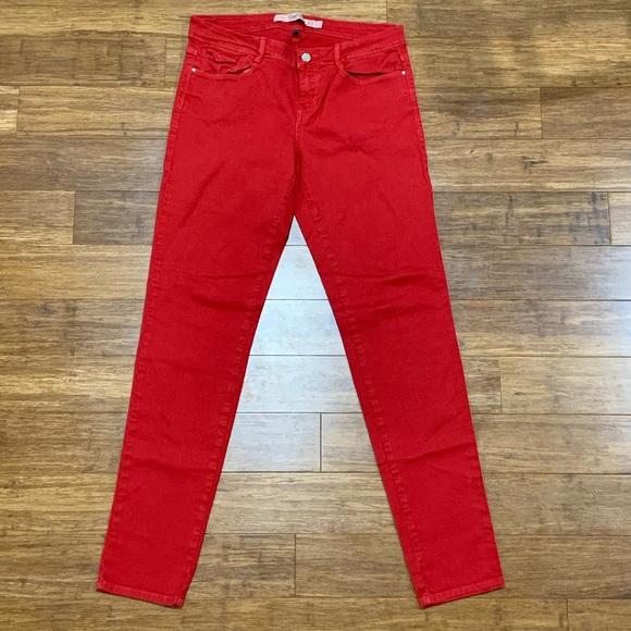 Zara Care Denim Red Slim Fit Sz. 8